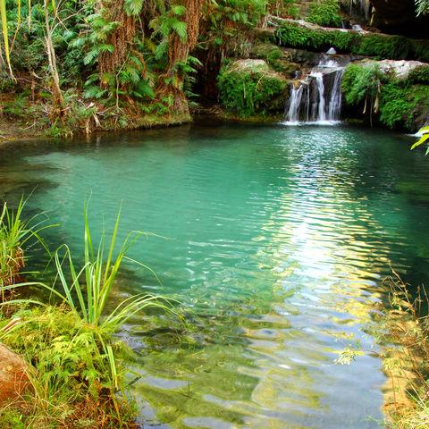 Natürliches Schwimmbecken im Isalo Nationalpark, Madagaskar