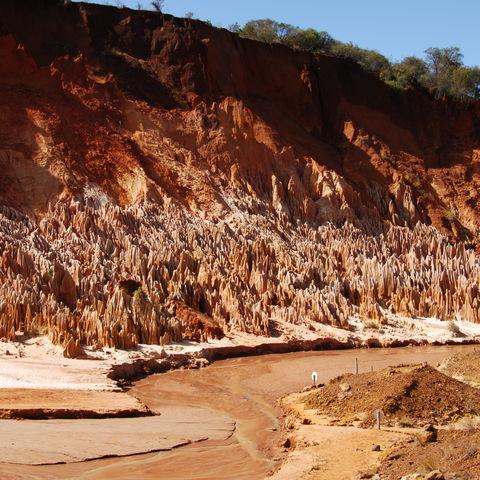 Kalksteinformationen im Tsingy Nationalpark, Madagaskar