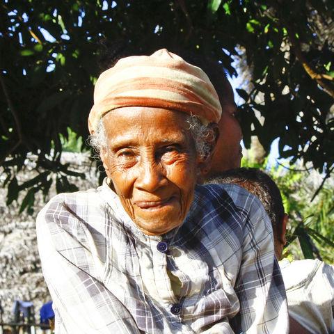 Portrait einer älteren Madagassin, Madagaskar