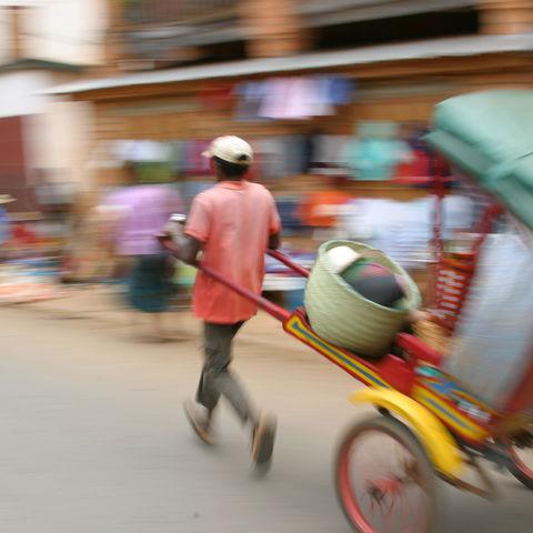 Rikschafahrer, Madagaskar