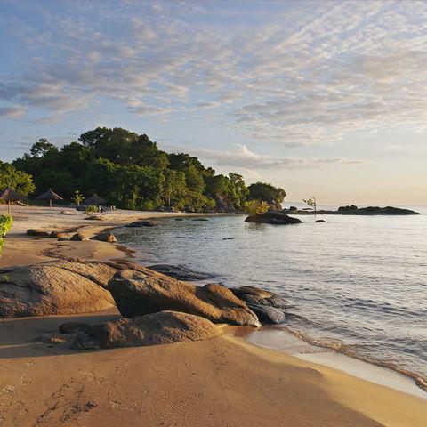 Makuzi Beach am Malawisee, Malawi