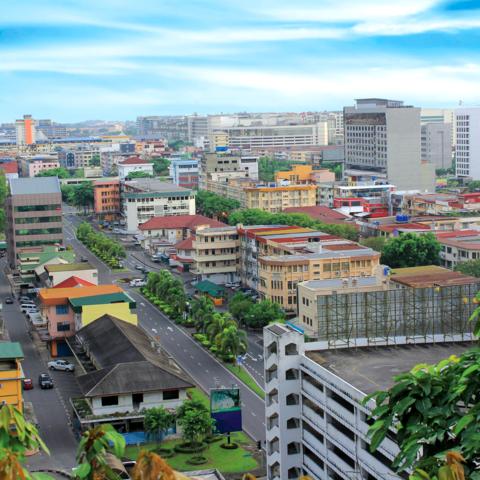 Häusermeer von Kota Kinabalu, Borneo, Malaysia