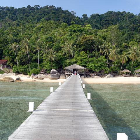 Steg auf der Insel Tioman, Malaysia