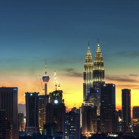 Skyline von Kuala Lumpur, Malaysia