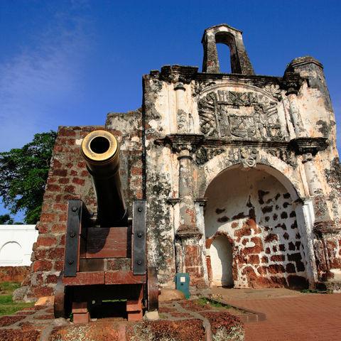 Ehemalige portugiesische Festung A Famosa, Malakka, Malaysia