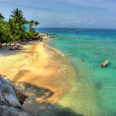 Trauminseln: Strand von den Perhentian Islands, Malaysia