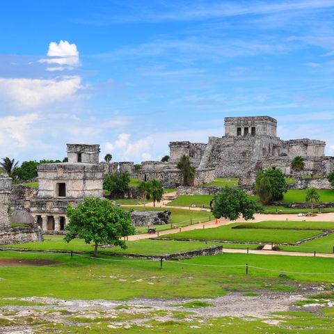 Die Maya-Felsenfestung von Tulum, Mexiko