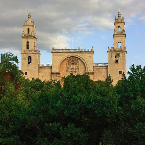 Riesige Kathedrale von Mérida, Mexiko