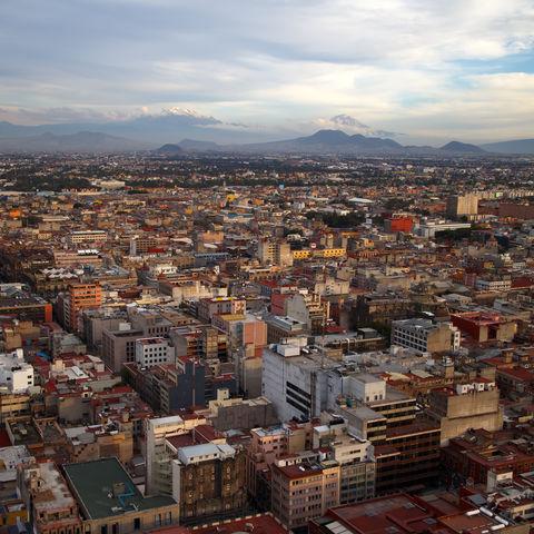 Mexiko-Stadt von oben, Mexiko