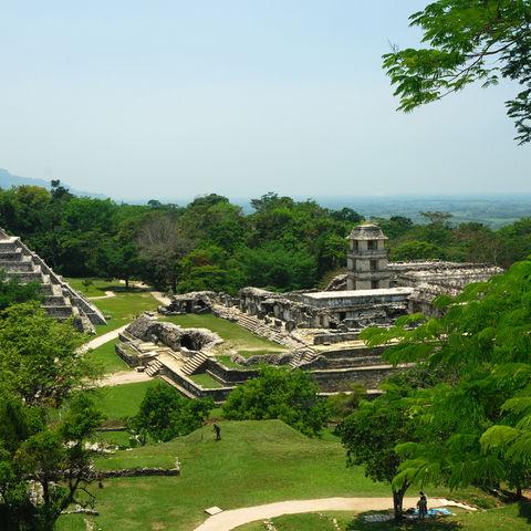 Maya Ruinen in Palenque, Mexiko