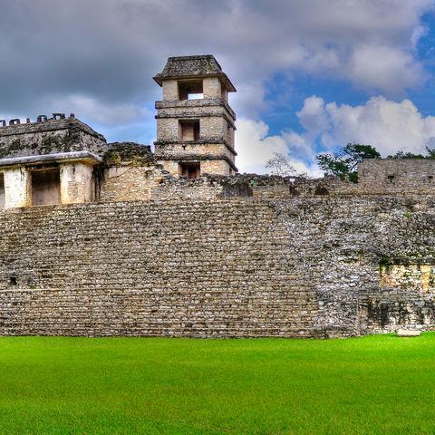Maya Tempel in Palenque, Mexiko