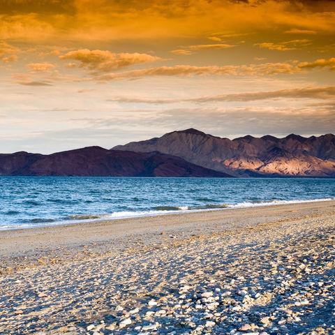 Sonnenuntergang am Strand, Mexiko