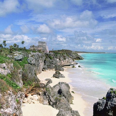Ruinen von Tulum an der Karibikküste, Mexiko
