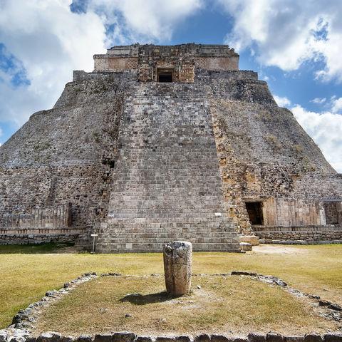 Die große Pyramide in Uxmal, Mexiko