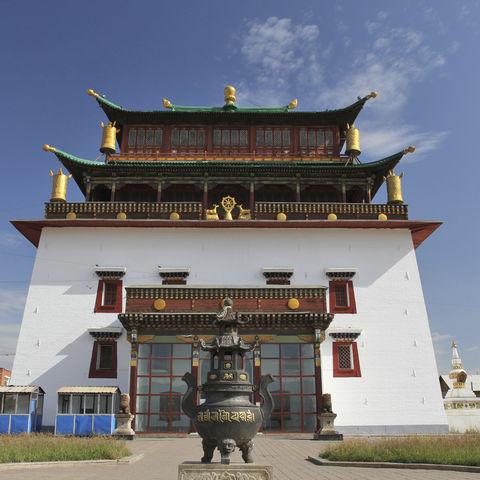 Das bedeutende buddhistische Gandan-Kloster, Mongolei