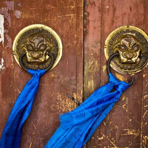 Verzierter Türgriff zum Erdene Dssu Kloster, Karakorum, Mongolei