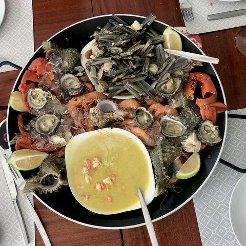 Festmahl aus Meeresfrüchten, Mosambik