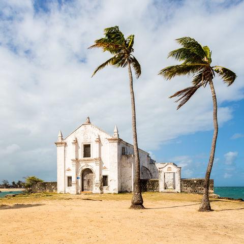 Kirche San Antonio, Mosambikinsel, Nampula Provinz, Mosambik