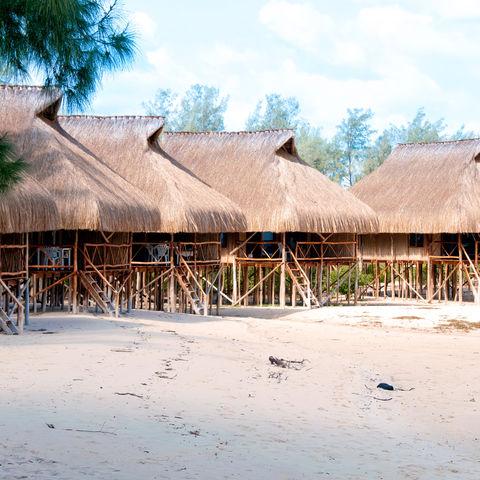 Strandhütten, Mosambik