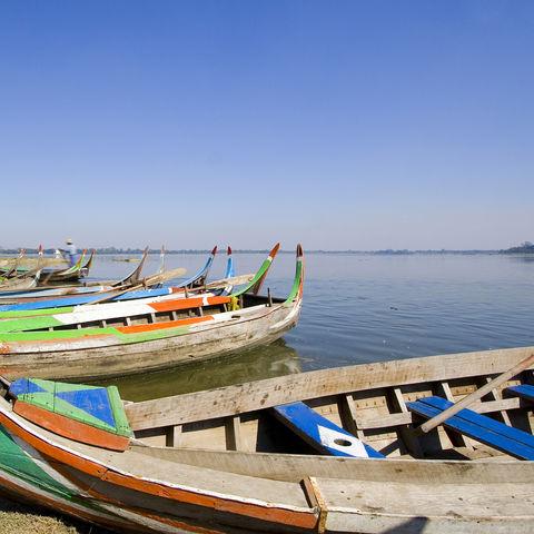 Boote des Irrawaddy Fluss, Myanmar