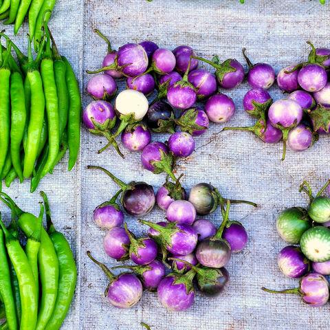 Gemüse auf einem Markt, Myanmar