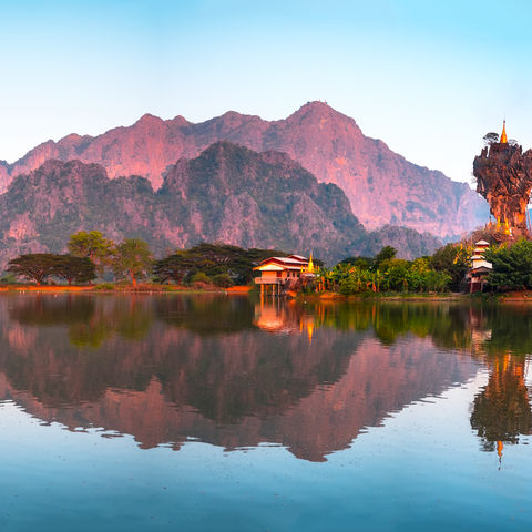 Außergewöhnliche Kyauk Ka Lat Pagode in Hpa An © Lakhesis, Dreamstime.com
