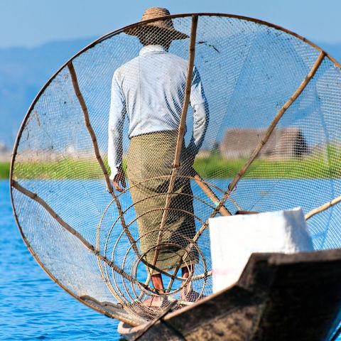 Fischer auf dem Inle See, Myanmar