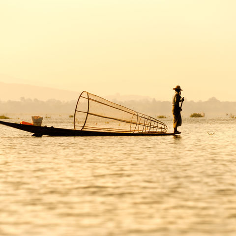 Fischer auf dem Inle - See