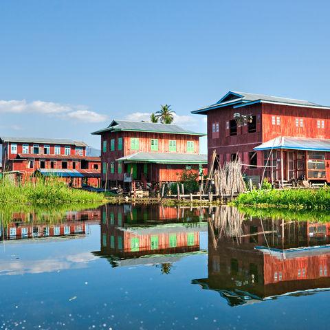 Häuser auf dem Inle-See