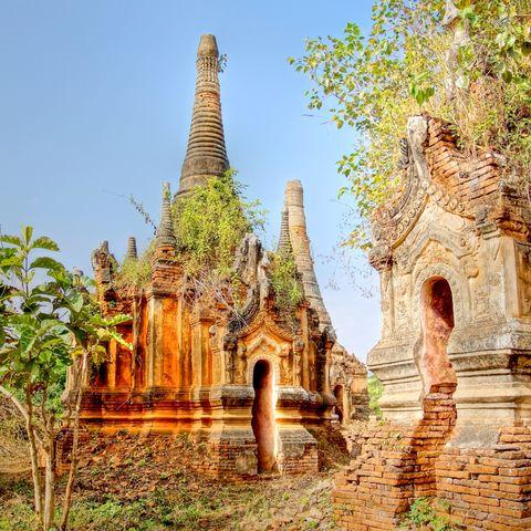 Am Inle See gelegen: Indein Pagodenwald, Myanmar