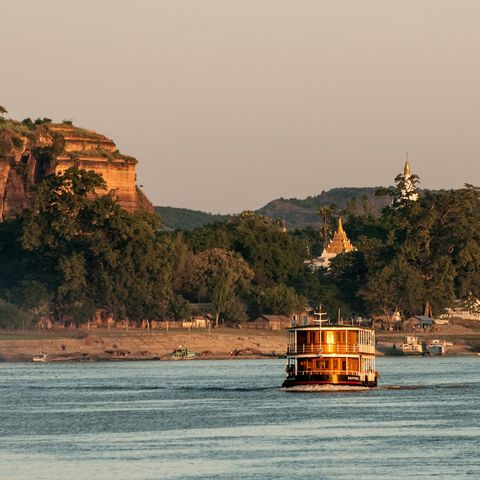 Blick auf Mingun und den Irrawaddy Fluss