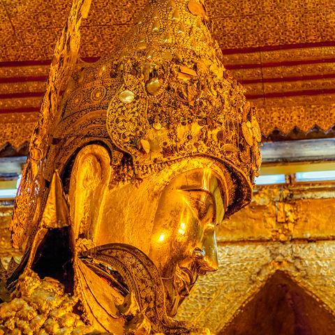 Mahamuni Buddha in Mandalay, Myanmar