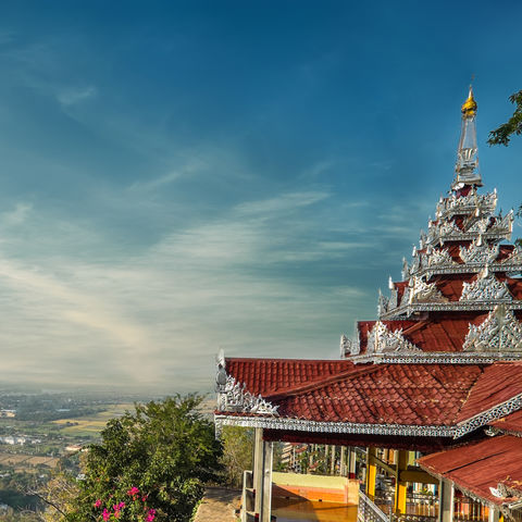 Blick vom Mandalay-Hügel auf die Stadt Mandalay