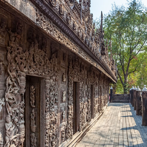 Shwenandaw Kyaung Tempel in Mandalay, Myanmar