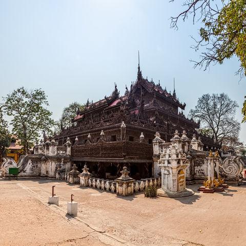 Shwenandaw Teakholz-Kloster in Mandalay, Myanmar