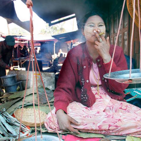 Marktverkäuferin, Myanmar