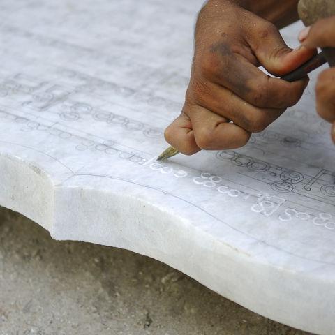 In Marmor eingravierte burmesische Schriften, Myanmar