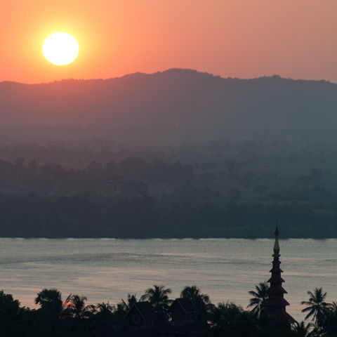 Sonnenuntergang bei Mawlamyine, Myanmar
