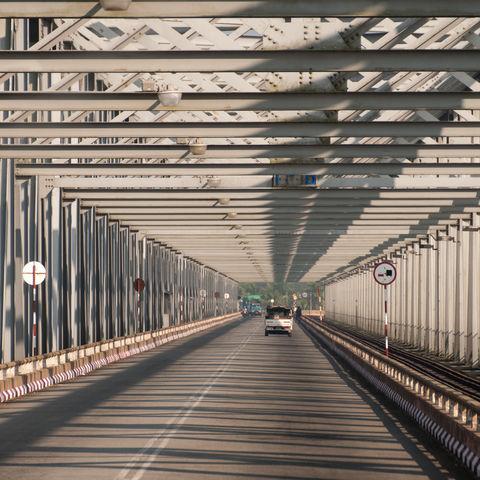 Thanlwin Brücke in Mawlamyine, Myanmar