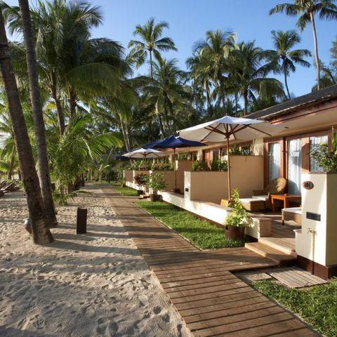 Außenanlage des Bayview Beach Resorts, Myanmar