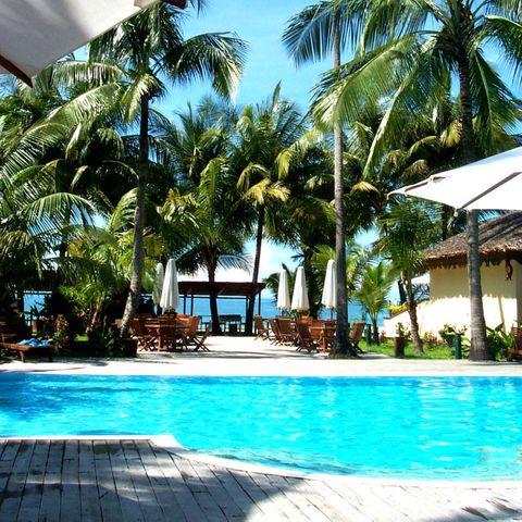 Pool im Bayview Beach Resort, Myanmar