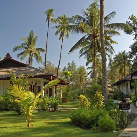 Deluxe Garden View Bungalow im Thande Beach Hotel, Myanmar