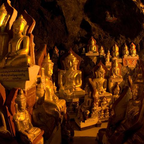 8.000 Buddhastatuen in den Pindaya Höhlen