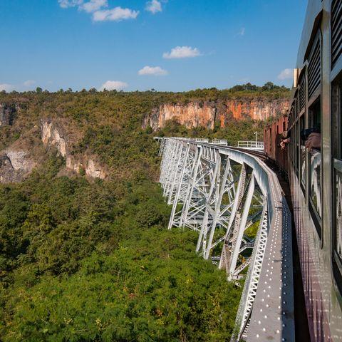 Zugbrücke bei Pyin Oo Lwin, Myanmar