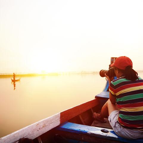 Fotografieren auf dem See, Myanmar