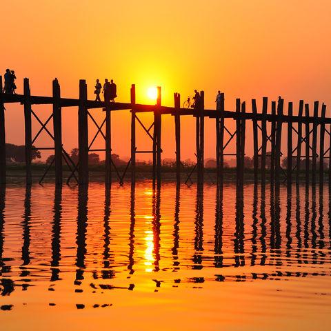U-Bein Brücke, Myanmar