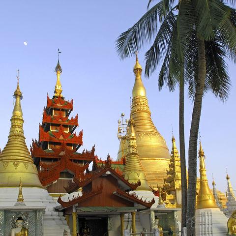 Goldene Shwedagon Pagode in Yangon, Myanmar
