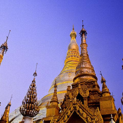 Stupa der goldenen Shwedagon Pagode, Myanmar