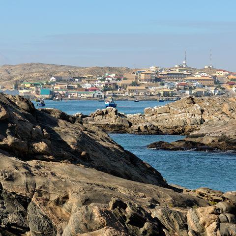 Blick auf die Küstenstadt Lüderitz, Namibia