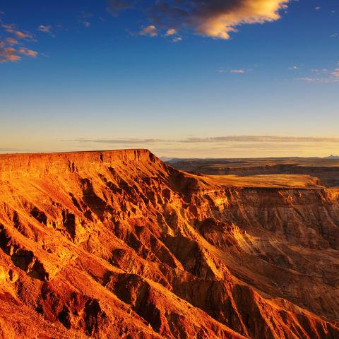 Der zweitgrößte Canyon der Welt: Fish River Canyon, Namibia